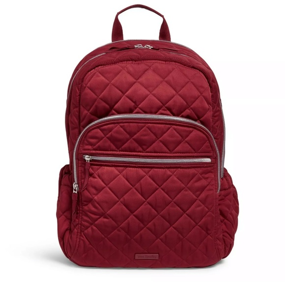Iconic Campus backpack performance twill Berry Red